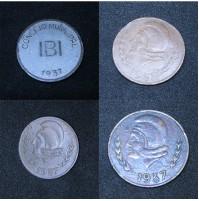 España - Serie Completa de las 4 monedas de IBI 1937