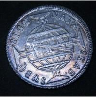 Brasil - 960 Reis 1815 sobre moneda de 8 reales en Plata