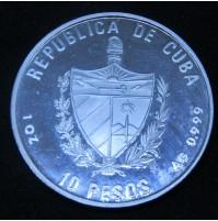 Cuba - 10 Pesos de 1991 (Estadio Olímpico Barcelona) de plata