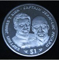 Liberia - Serie de Monedas de 1 dólar de Star Trek