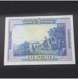 España - Billete de 100 pesetas de 1928 de Cervantes