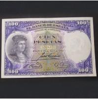 España - Billete de 100 pesetas de 1931 Fernández de Córdoba Sin Serie