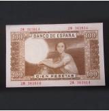 España - Billete de 100 pesetas de 1953 Julio Romero de Torres en estado EBC