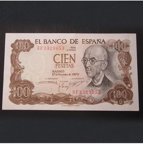 España - Billete de 100 pesetas de 1970 Manuel de Falla Serie 3F
