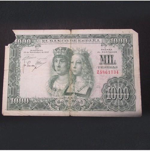 España - 1000 Pesetas 1957 - Reyes Católicos