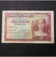 España - 10 Pesetas de 1938 Certificado de Plata