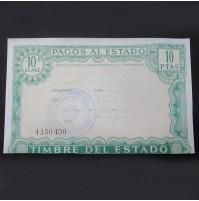 España - 10 Pesetas de Pagos al Estado 1985