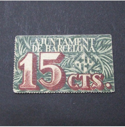 España - 15 céntimos de peseta de Barcelona de 1939