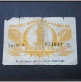 España - 1 Peseta Manresa 1937 - República Española