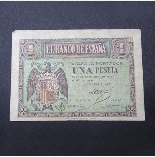 España - 1 Peseta 1938 (Burgos)