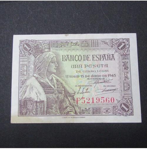 España - 1 Peseta 1945 (Isabel La Católica)