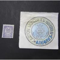 España - 20 céntimos de Linares de 1937 (Cartón Moneda)