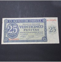 España - 25 Pesetas de Burgos de 1936