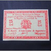 España - 25 céntimos Totana 1937