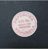 España - 25 céntimos de Madrid (Cartón Moneda) 1937