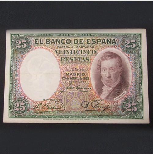 España - 25 Pesetas 1931 Vicente López