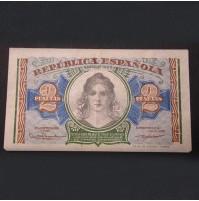 España - 2 Pesetas 1938 - República Española