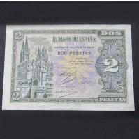 España - 2 Pesetas 1938 (Burgos) - Pareja de billetes consecutivos