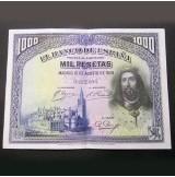 España - 1000 Pesetas 1928 - San Fernando (Tres billetes consecutivos)