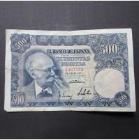 España - 500 Pesetas 1951 - Mariano Benlliure