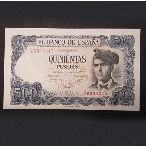 España - 500 Pesetas 1971 Jacinto Verdaguer
