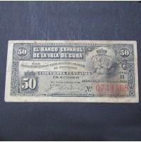 España - 50 Centavos de la Isla de Cuba 1896