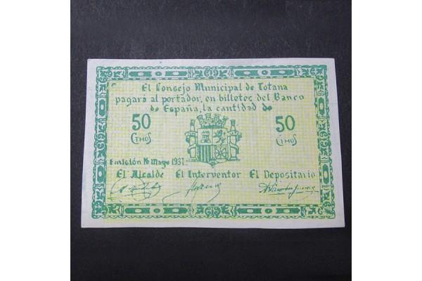 España - 50 céntimos Totana 1937