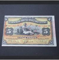 España - 5 Pesos de 1896 Isla de Cuba