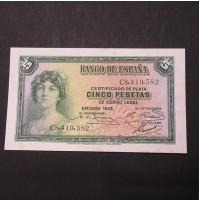 España - 5 Pesetas 1935 - Certificado de Plata