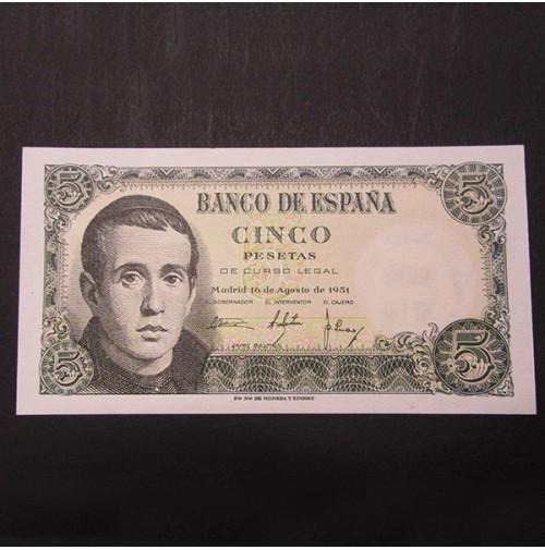 España - 5 Pesetas 1951 (Jaime Balmes)