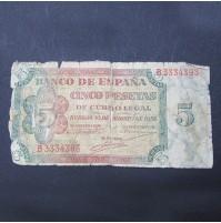 España - 5 Pesetas 1938 de Burgos