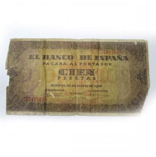 España - 100 Pesetas 1938 - Burgos