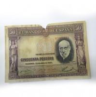 España - 50 Pesetas 1933 - Santiago Ramón y Cajal