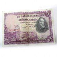 España - 50 Pesetas 1928 - Velázquez
