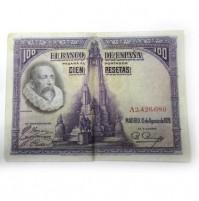 España - 100 Pesetas 1928 -  Cervantes