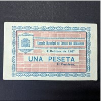 España - 1 Peseta 1937 Consejo Municipal Cuevas del Almanzora