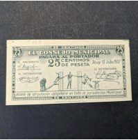España - Billete Local de  25 céntimos de 1937 de Alcoy