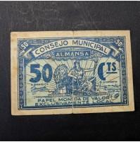 España - 50 céntimos de Almansa de 1937