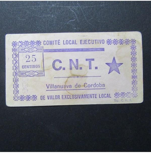 España - 25 Céntimos de Villanueva de Córdoba C.N.T.