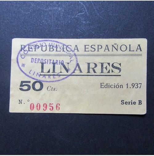 España - 50 céntimos Linares - República Española