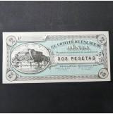 España - Lote de Billetes SIN SERIE de Denia de 1936