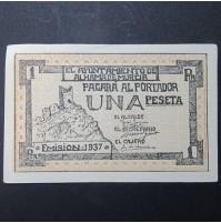 España - 1 Peseta Alhama de Murcia 1937 - República Española