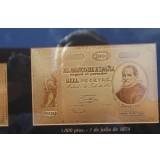 Historia de la peseta en Papel Moneda - ORO de 24K