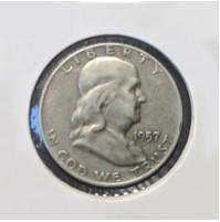 Estados Unidos (EE.UU.) - Medio Dólar 1957 Plata