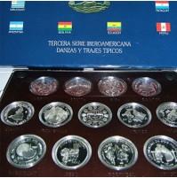 Danzas y Trajes Típicos - III Serie Iberoamericana en Plata