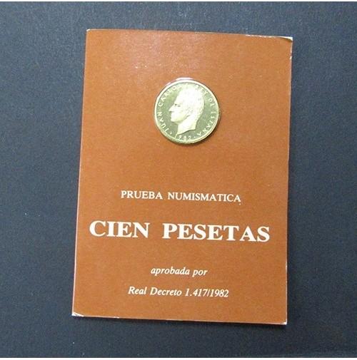 España - 100 Pesetas 1982 - Prueba Numismática