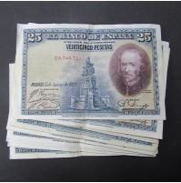 España - Lote de Billetes 25 pesetas 1928