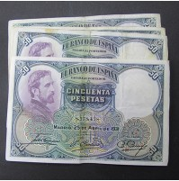 España - Lote de Billetes 50 pesetas 1931
