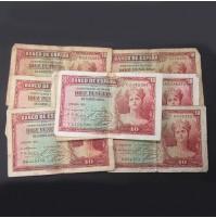 España - Lote de Billetes 10 pesetas 1935