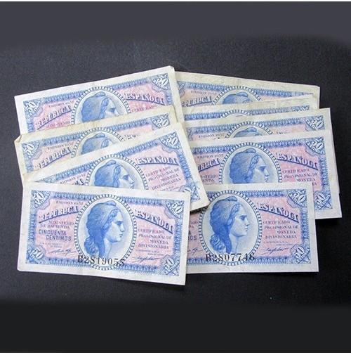 España - Lote de Billetes 50 céntimos de 1937